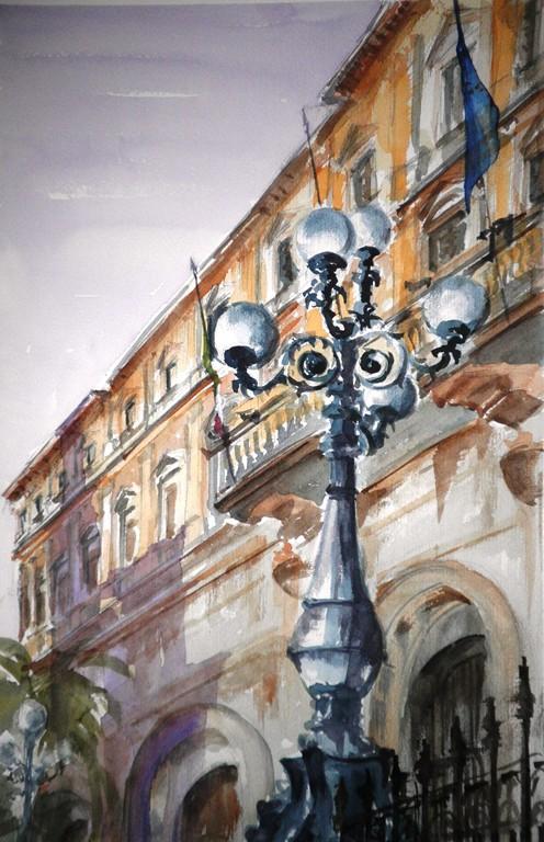 Roma, acquerello su carta 35x45